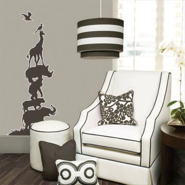 grey gray cream chic nursery