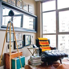 black taupe eclectic lounge