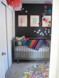 grey gray rainbow nursery