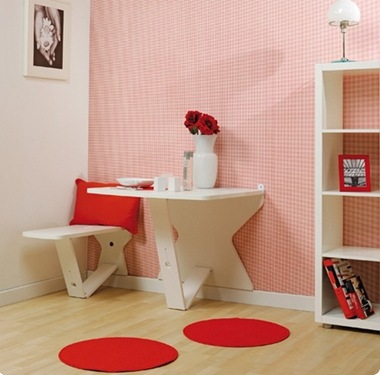 red white checkered cute kitchen dining nook