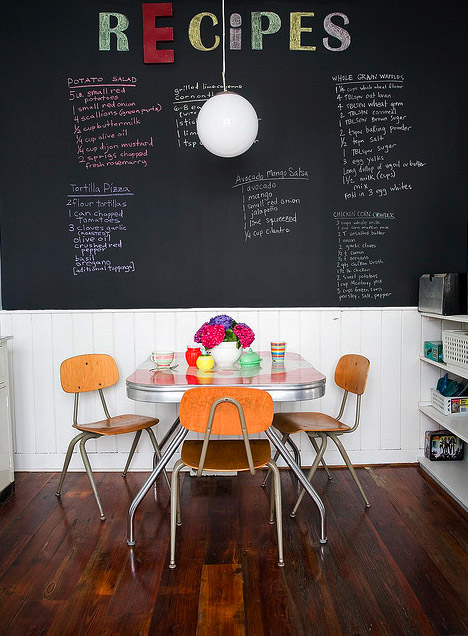 cute kitchen retro diner blackboard