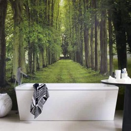 bathroom tree mural