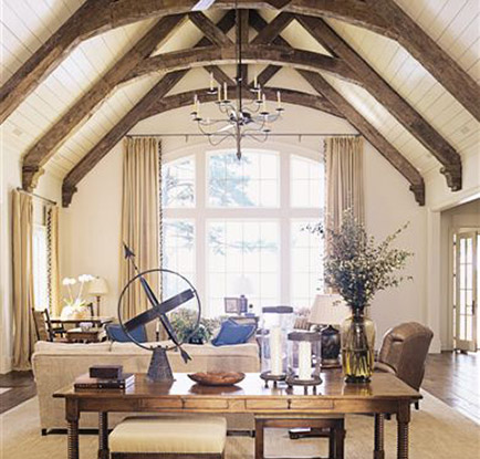 Living Room With Vaulted Ceiling Design Ideas Decorpad