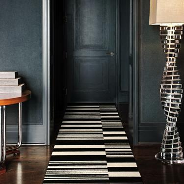 grey hallway stripe carpet