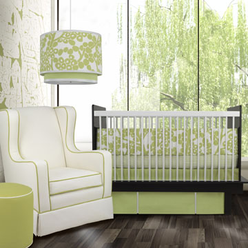 lime green chic nursery