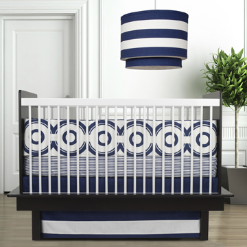 navy blue chic nursery