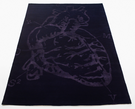 bev hisey cross my heart diagram black rug