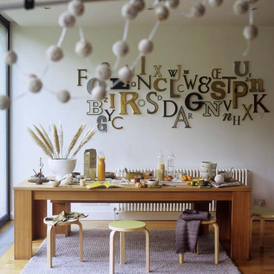 Quirky dining rooms my home rocks for Quirky dining room ideas