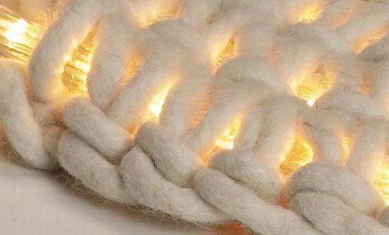 6 Johanna Hyrkas white light up led knitted crochet rug
