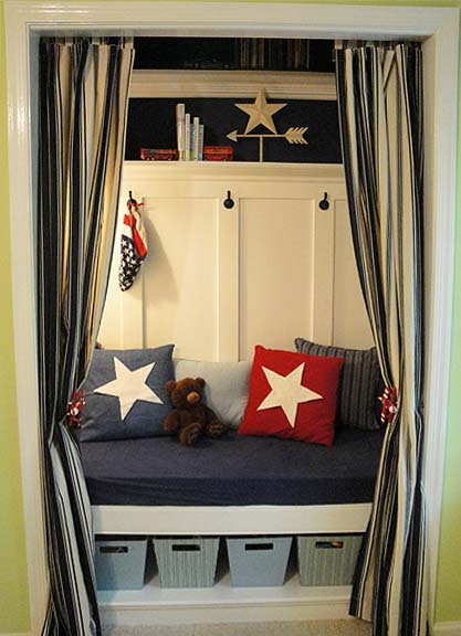 curtained reading nook