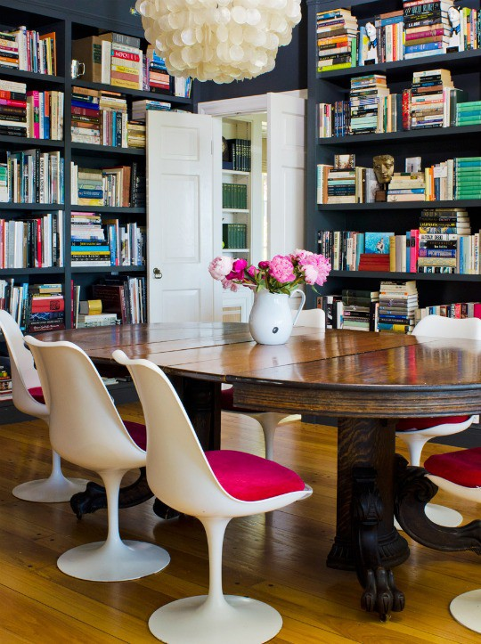 quirky modern traditional dining room