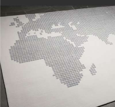 grey gray world atlas map area rug