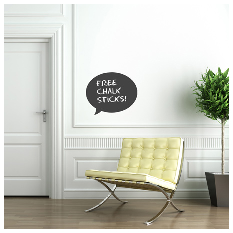 Chalk board Speech Bubble Decal