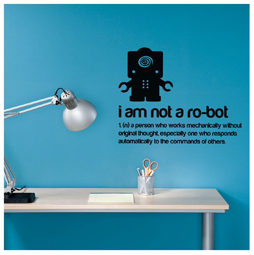 I am not a robot decal