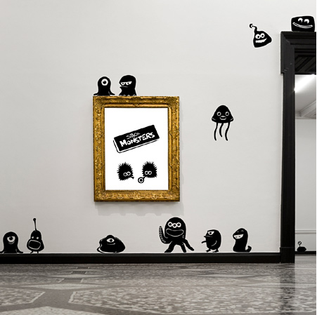 Monsters wall decals
