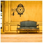 Ornate clock decal
