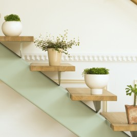 Interior mini herb garden ideas stair planters