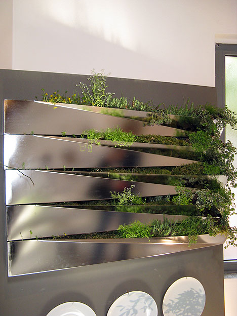 Kitchen Herb Gardens and Salad Walls My Home Rocks