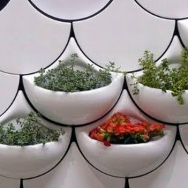 White Kitchen Herb Garden Planter Tiles