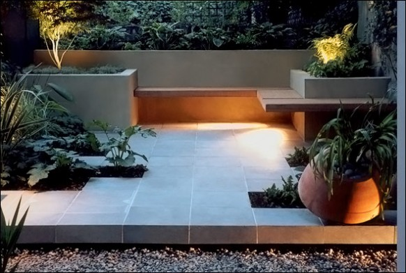 Modern Backyard Pics : Built in Benches of Beauty  My Home Rocks