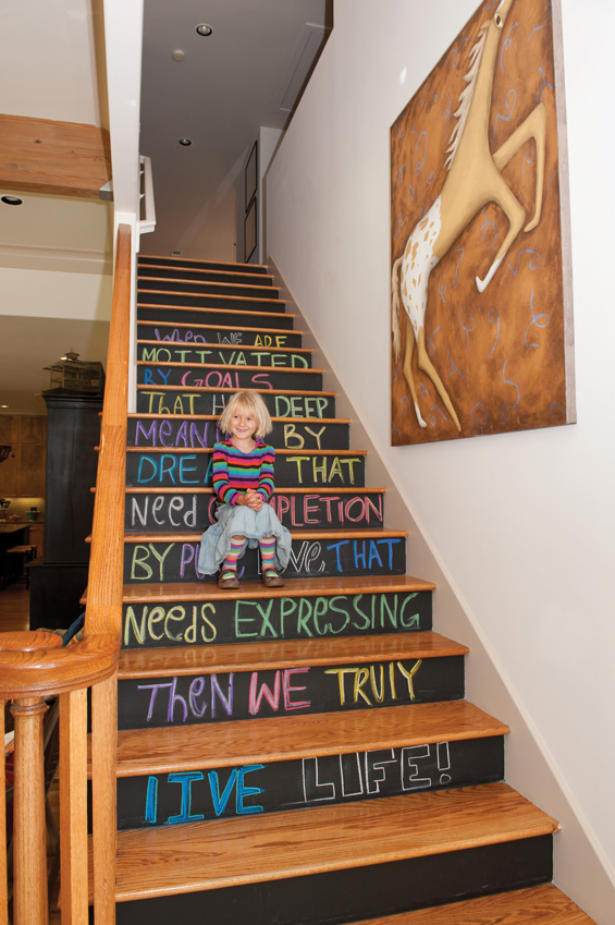 Creative stairs trying to balance the madness - Painted stairs ideas pictures ...