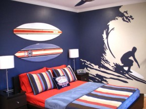 teenage boys bedroom decal