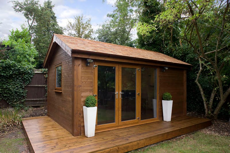 outdoor garden office. multifunctional garden room structure shed hut outhouse outdoor office
