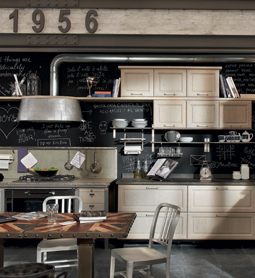 Industrial style kitchens my home rocks for Vintage kitchen designs photos
