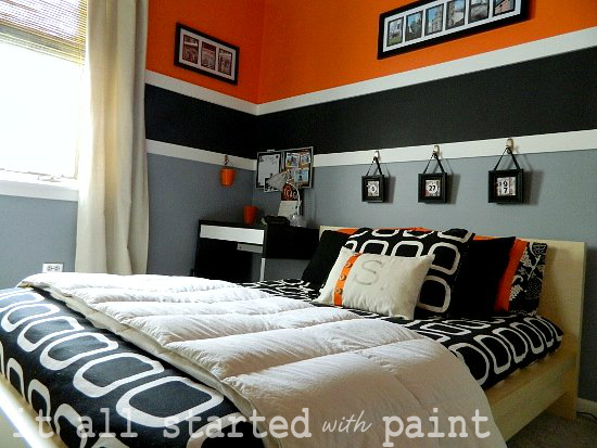 http://www.myhomerocks.com/wp-content/uploads/2012/05/9-Orange-black-grey-gray-white-striped-feature-wall-cool-teen-bedroom.jpg
