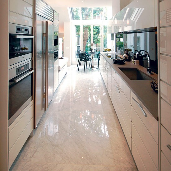 Contemporary galley kitchen design