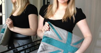 Union Jack cushion British decor
