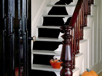 Halloween staircase silhouette