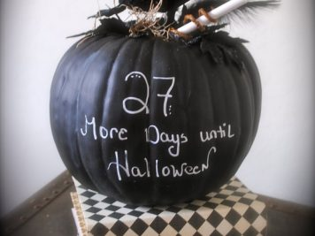 Halloween countdown pumpkin
