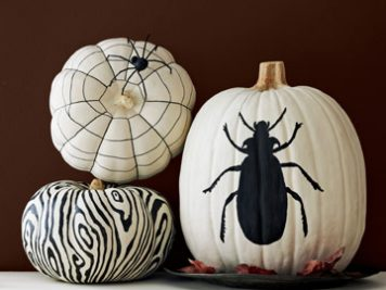 Spooky pumpkin paint ideas