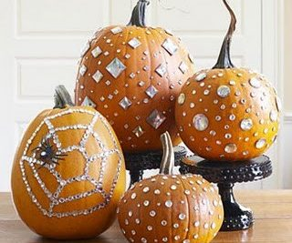 Sparkly bling pumpkin