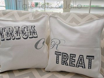 Trick or treat halloween cushions
