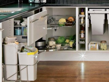 Kitchen pull outs accessories waste sorting