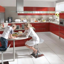 ODINA red gloss kitchen