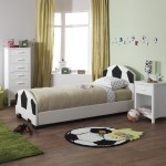 Pallone Kids Football Themed Faux Leather Bed