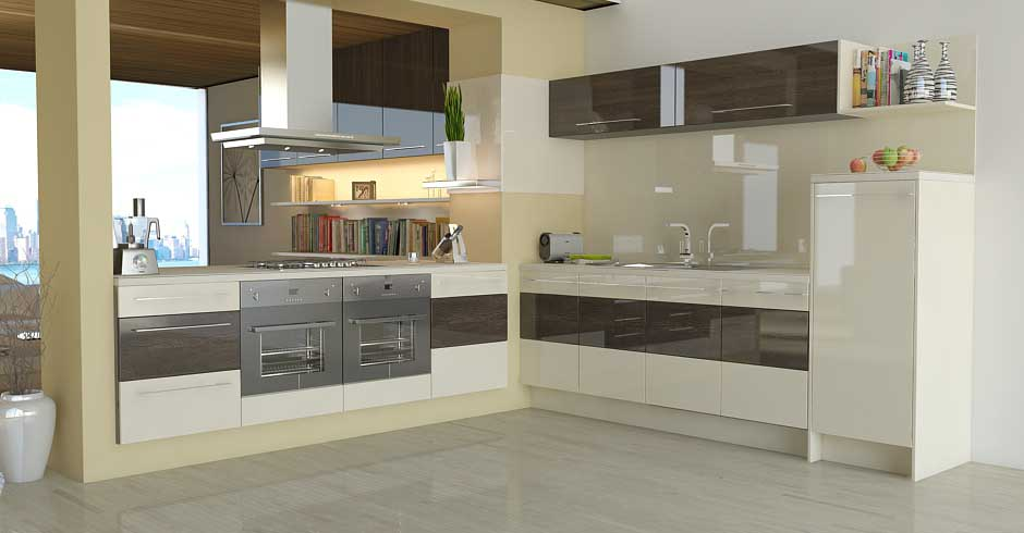 Modern Kitchen Ideas Cream Gloss Cream Gloss Kitchen Design