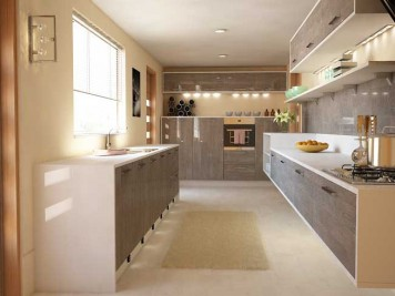Wall mounted floating kitchen units