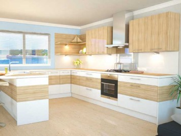 White beech wood kitchen worktops