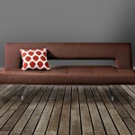 Floyd Leather Effect Clic Clac Brown Sofa Bed FEATURED