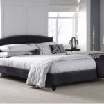 Serene Charlotte Charcoal Upholstered Bed Frame