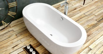White Freestanding Bath