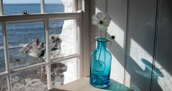 Blue Flower Bottle Vase