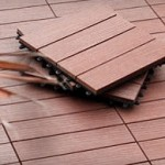 Wood composite deck tiles