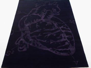 bev hisey cross my heart diagram black rug