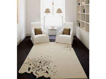 rectangular white cutout rug