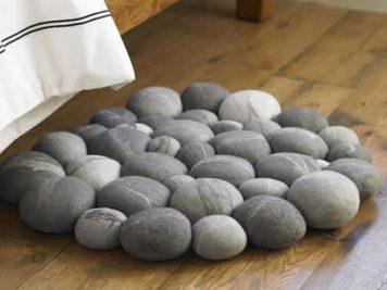 stone grey gray pebbles rug mat